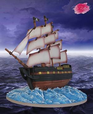 Pirate Ship - Sugar Pirates Collaboration - Cake by Mr Baker's Cakes