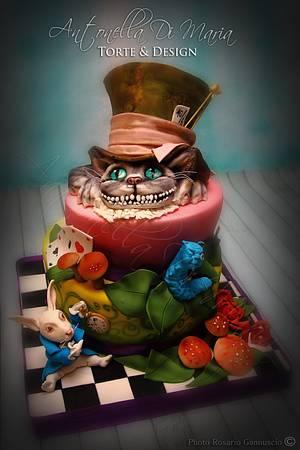 Alice in Wonderland 4 - more Tim Burton version - Cake by Antonella Di Maria