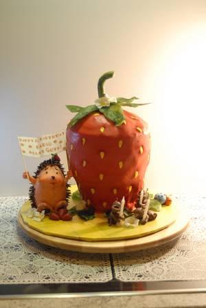 strawberry Birthdaycake - Cake by Aurelia'sTartArt