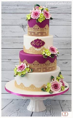 Lace wedding cake - Cake by Sobi Thiru
