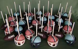 Super Bowl 50 Cake Pops - Cake by virago
