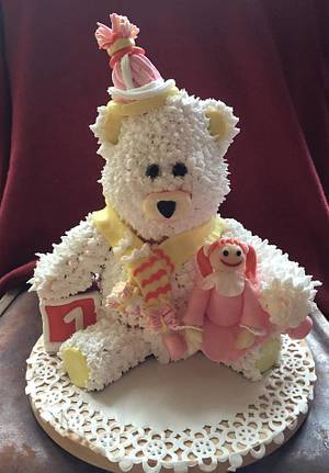 Polar bear birthday cake for a little girl - Cake by Kassie