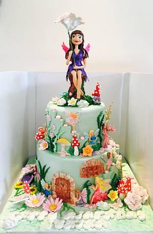 Garden fairy  - Cake by Tiers of joy