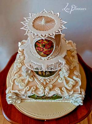 Royal Icing hand painted wedding cake - Cake by Diana Toma