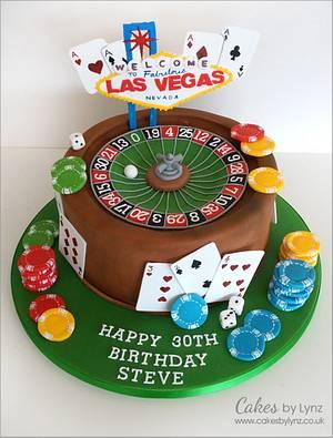 Las Vegas Roulette wheel cake - Cake by CakesbyLynz