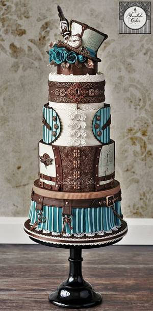 Steampunk birthday cake - Cake by Tamara