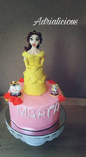Belle cake  - Cake by Adrialicious