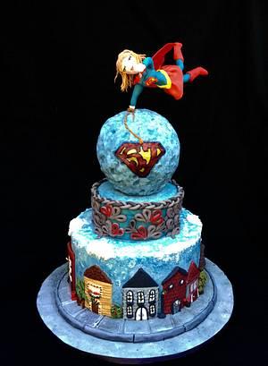 Super Josh Collaboration..........Super Girl - Cake by Goreti