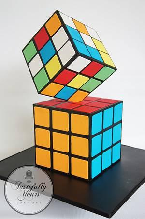Rubik's Cube - Cake by Marianne: Tastefully Yours Cake Art