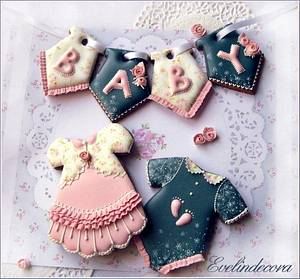 Baby cookies - Cake by Evelindecora
