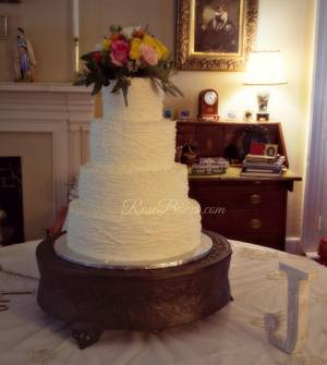Rustic Buttercream Branches Wedding Cake - Cake by Rose Atwater