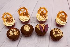 Steampunk cupcakes - Cake by Cakes By No More Tiers (Fiona Brook)