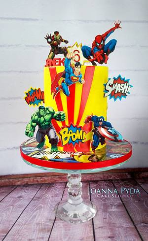 Superhero Cake - Cake by Joanna Pyda Cake Studio