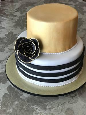Black rose cake - Cake by Osweetcakes