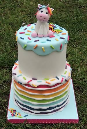 Rainbow Unicorn Cake - Cake by Shereen
