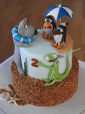 Bernard bear and friend - Cake by MartaMc