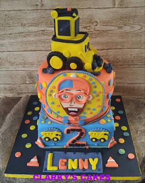 """HAPPY 2ND BIRTHDAY LENNON - Cake by June (""""Clarky's Cakes"""")"""