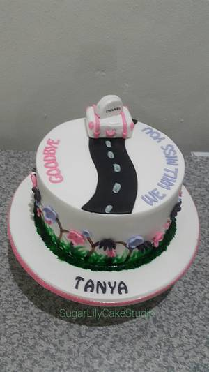 Tanya Goodbye Cake - Cake by SugarLilyCakeStudio