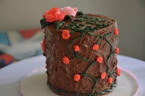 Rose cake - Cake by Harshitha