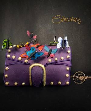 The Purple Bag - a PDCA Caker Buddies Collab - Cake by Prajakta Agnihotri