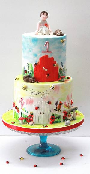 The Happy Garden - Cake by Midnight Kakery