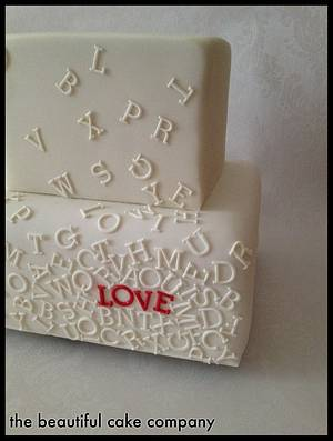 Scrambled Letters cake - Cake by lucycoogancakes