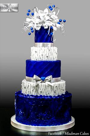 Royal Blue - Silver Wedding Cake - Cake by MLADMAN