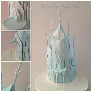 Frozen Castle - Cake by Caroline Nagorcka