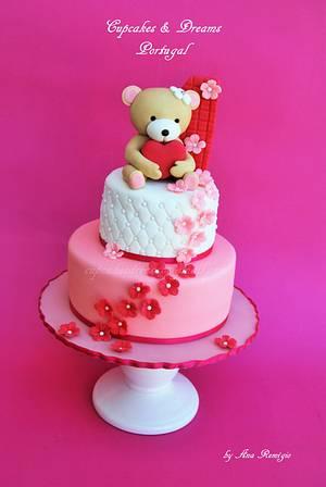 SWEET TEDDY - Cake by Ana Remígio - CUPCAKES & DREAMS Portugal
