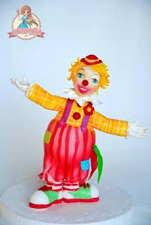 Clown Cake Topper - Cake by SweetLin