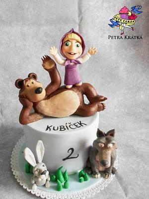 Masha and the bear - Cake by Petra Krátká (Petu Cakes)
