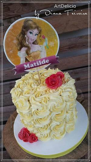 Bolo Princesa Bela - Belle Cake (Beauty and the Beast) - Cake by Unique Cake's Boutique
