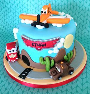 Planes and Cars - Cake by Lesley Southam
