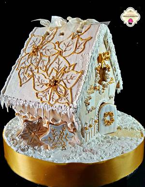Colaboracion GINGERBREAD HOUSE  - Cake by Cholys Guillen Requena