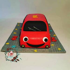 Red bus - Cake by Zerina