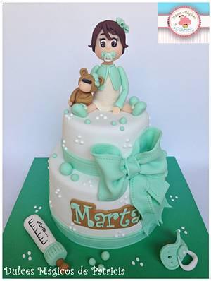 Marta´s Christening  - Cake by Dulces Mágicos de Patricia