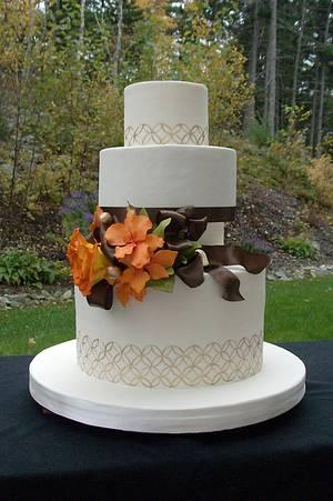 The Sugar Nursery's Fall Wedding Cake - Cake by The Sugar Nursery - Cake Shop & Imaginarium