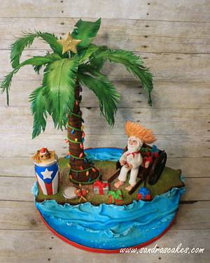 Christmas in Puerto Rico - Cake by Sandrascakes