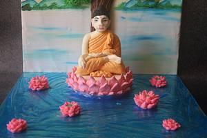 Lord Buddha - Beautiful Srilanka Collaboration - Cake by Sumerucreations