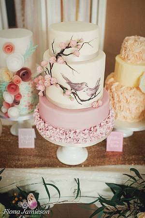 Birds & Blossoms - Cake by TLC