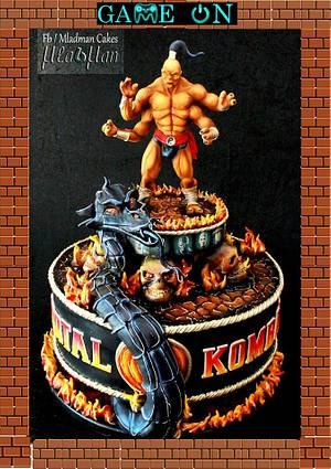 """MORTAL COMBAT by MLADMAN  / """"Game On"""" Collaboration 2015  - Cake by MLADMAN"""