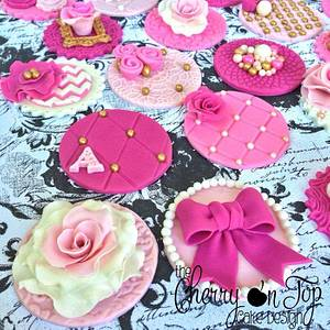 Vintage Tea Party Cupcake Toppers - Cake by Jamie Hodges