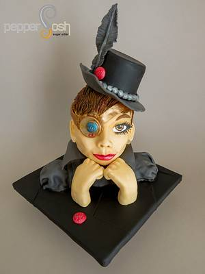 Audrey Hepburn Cake Collaboration May 4, 2016 - Cake by Pepper Posh - Carla Rodrigues