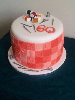 Sewing/patchwork themed cake - Cake by TattooedCake