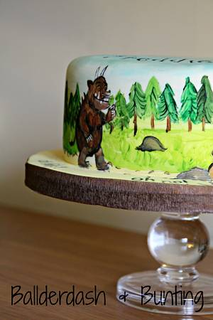 Oh help! Oh no! It's a gruffalo! - Cake by Ballderdash & Bunting