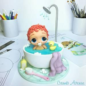 Baby in a Bathtub - Cake by Crumb Avenue