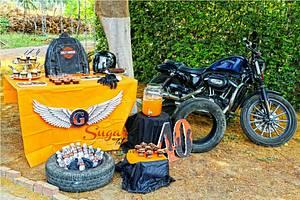 PDCA Caker Buddies Dessert Table Collaboration - Harley Davidson  - Cake by Sugar Tales