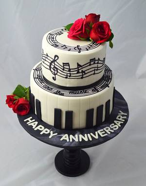 Music themed cake - Cake by Senthil