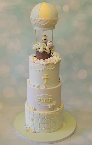 Hot air balloon Christening - Cake by Shereen