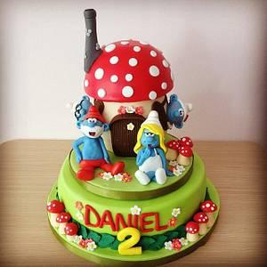 The Smurfs  - Cake by Valeria Antipatico